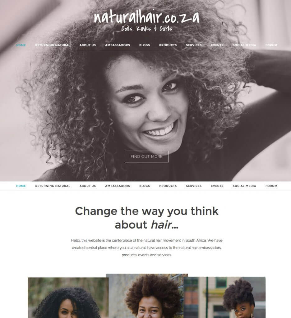 Natural Hair - Website Project by PixelPunks